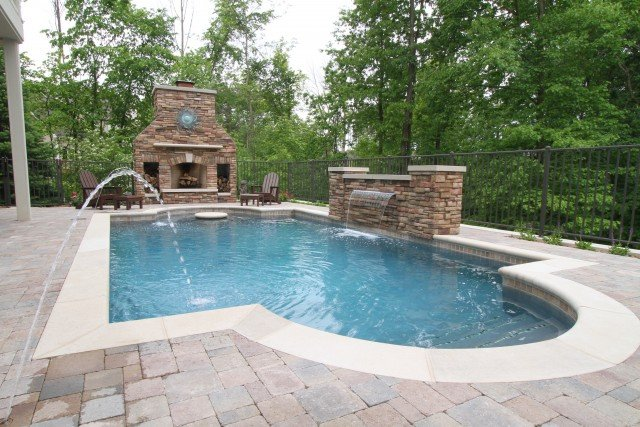 Lovely Grand Rapids Pool, Outdoor Fireplace, Outdoor Kitchen And Patio